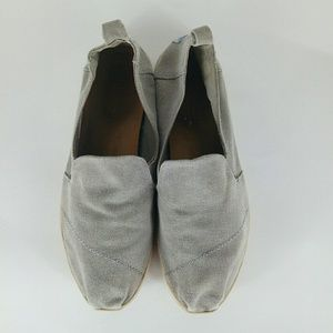 """Toms Drizzle Washed Canvas SlipOns Size 8.5"""""""